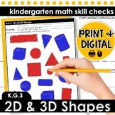 2D & 3D Shapes | Kindergarten Math