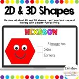 2D & 3D Shapes - Lesson + Activitiy