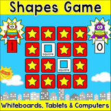 2D & 3D Shapes Memory Matching Game - Superhero Monsters Theme Math Game