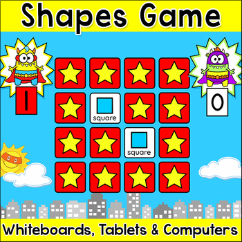 Shapes memory matching teaching resources teachers pay teachers 2d 3d shapes memory matching game superhero monsters theme math game fandeluxe Choice Image