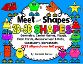 2D and 3D Shapes Pack,Geometry unit, Center Games, Flash Cards, Worksheets, CCSS