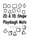 2D & 3D Shapes Playdough Mats