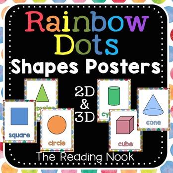 2D & 3D Shapes Posters