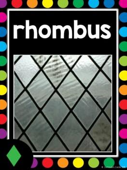 2D & 3D Shapes Posters {Black & Rainbow Dots Theme}