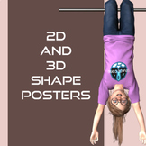Space Themed 2D & 3D Shapes Posters
