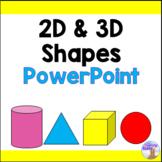2D & 3D Shapes PowerPoint