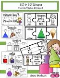 2D & 3D Shapes Activities:  Puzzle Game Booklet