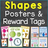 2D & 3D Shapes Reward Tags & Shapes Posters Bundle Set