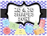 2D & 3D Shapes Sort