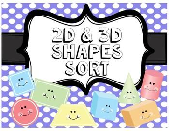 2D & 3D Shapes Sort