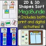 2D & 3D Shapes Sort Mega-Bundle (Print & Digital) Learning Centers & Boom Cards