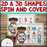 2D-3D Shapes Spin and Cover