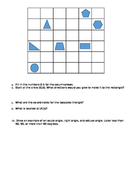 2D/3D Shapes, Symmetry, Co-Ordinates, and Angles