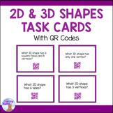 2D & 3D Shapes Task Cards