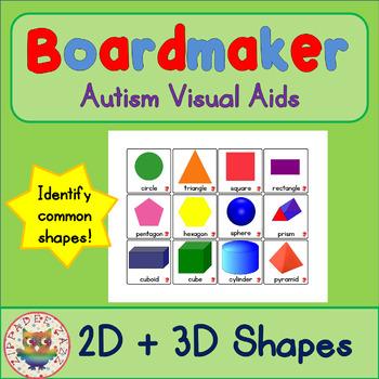 2D / 3D Shapes (UK) - Visual Aids for Autism
