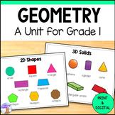 2D & 3D Shapes Unit for Grade 1 (Ontario Curriculum)