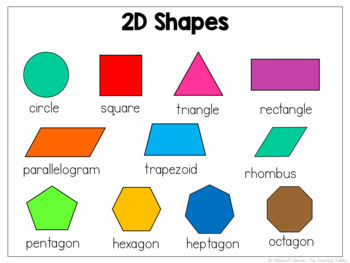 2d and 3d shapes worksheets for grade 2