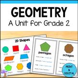 2D & 3D Shapes Unit for Grade 2 (Ontario Curriculum)