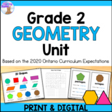 2D & 3D Shapes Unit for Grade 2 (Ontario Curriculum)