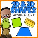 2D & 3D Shapes Worksheets & Activities