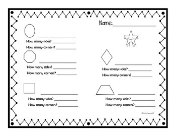 2D & 3D Shapes Write the Room (Activity Pack)