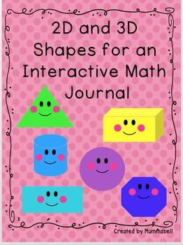 2D & 3D Shapes for Interactive Math Journal
