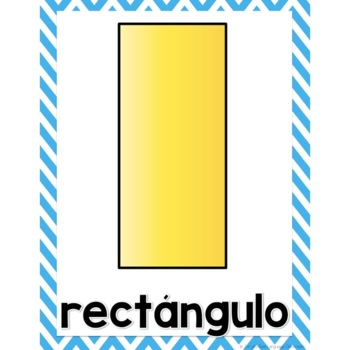 2D 3D Shapes in Spanish Posters - Figuras Geometricas