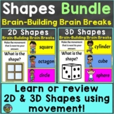 2D & 3D Shapes with Movement Brain Breaks Bundle Google Sl
