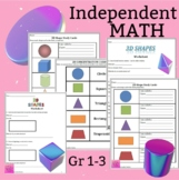 2D & 3D Study Cards, Game, and Worksheets