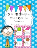 2D & 3D Shape Task Cards for 1st Grade
