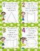 2D & 3D Shape Task Cards for 1st Grade