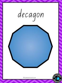 2D, 3D and Net Posters - ABC Font Purple Chevron