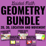 2D, 3D, and Transformational Geometry Bundle for Guided Math