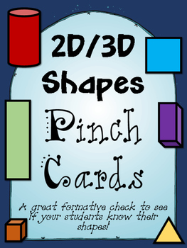 2D/3D pinch cards