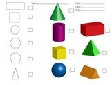 2D 3D shape assessment record sheet