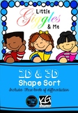 2D & 3D shape sort
