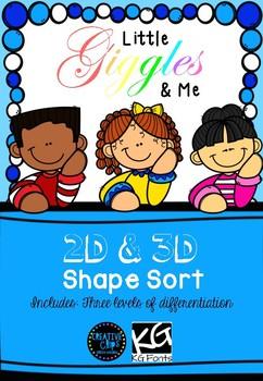 2D & 3D shape sort