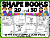2D & 3D shapes Fold able  Books (U.S and Canadian Spelling)