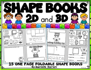 picture regarding Printable Shape Book called Form Publications- 2D and 3D Styles (U.S and Canadian Spelling)