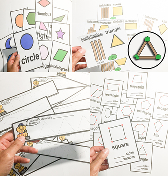 Shapes Activities   2D and 3D , Interactive chart , writing , craft