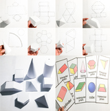 Shapes Activities   2D and 3D , Interactive chart , writin