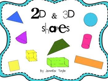 2D & 3D shapes pack