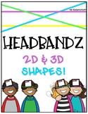 2D AND 3D SHAPES HEADBANDZ GAME