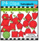 2D FUN Apple Shapes with faces (P4 Clips Trioriginals)