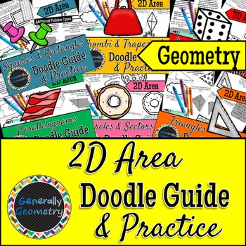 2D Area Doodle Notes; Geometry, Triangles, Trapezoids, Parallelograms