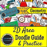2D Area Doodle Guides; Geometry, Triangles, Trapezoids, Parallelograms