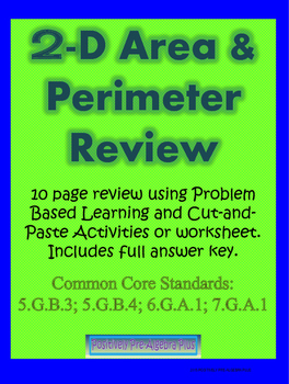 2D Area & Perimeter Problem Based Learning Review
