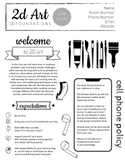 2D Art Syllabus - Editable to fit your needs - now in goog