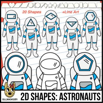 2D Astronauts Clip Art