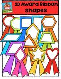 2D Award Ribbon Shapes {P4 Clips Trioriginals Digital Clip Art}